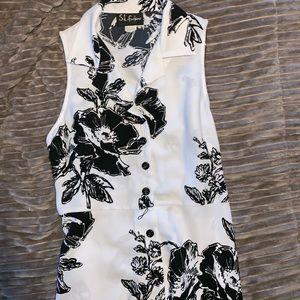 Dresses & Skirts - Plus size Long black & White dress